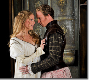 Katherine Manley as Oriana and Christopher Ainslie as Amadigi