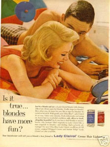 Vintage ad for Clairol campaign