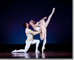 Alexei Tyukov and Chandra Kuykendall in the Act III Wedding Pas de Deux from The Sleeping Beauty