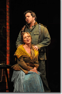 Jon Burton as Don Jose and Elizabeth Caballero as Micaela