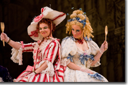 (Left to right) Julia Tobiska as Tisbe and Christie Hageman as Clorinda