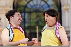 (Left to Right) Tom Coiner as Dromio of Ephesus and Gary Alan Wright as Dromio of Syracuse