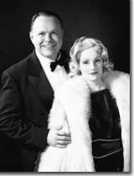 Paul Page as Maurice Chevalier and Mari Carlin Dart as Marlene Dietrich