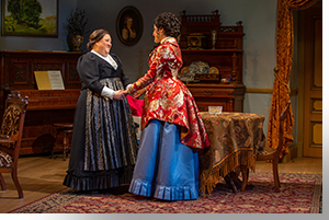 (Left to right) Leslie O'Carroll as Anne_Marie and Maria McClellan as Nora