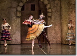 Maria Mosina as Kitri and Kevin Aydelotte as Don Quixote