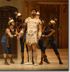 Glenn Lawrence as Miles Gloriosus (center) and the Proteans