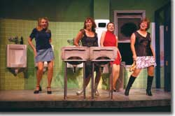 Photo of (L to R) Sarah Rex as Joanie, Heather Fortin Rubald as Estelle, Valerie Hill as Susan and Anita Boland as Georgie.