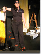 Photo of Lindsay Goranson as the Stage Manager