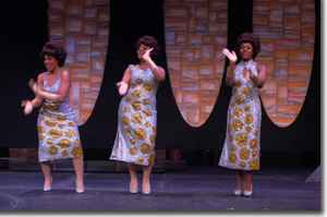 The Dynamites (Left to right) Ashlie-Amber Harris, Tetrianna Silas, Faith Goins