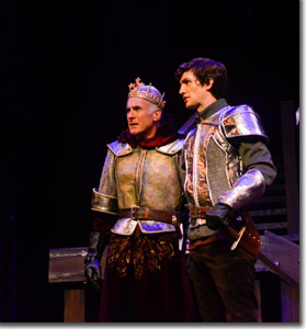 (Left to right) Sam Gregory as King Henry IV and Benjamin Bonenfant as Prince Hal