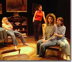 Photo of (L to R) Courtney Hayes as Sherry, Rebecca Sage as Kess, Jennifer Ann Forsyth as Jo, and Terry Ann Waits as Evelyn