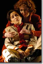 Photo of Patricia Risley as Sextus and Nancy Maultsby as Cornelia