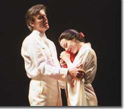 Photo of Gerard Powers as Pinkerton and Maria Kanyova as Cio-Cio-San