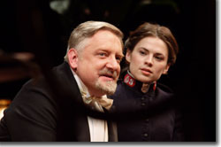 Simon Russell Beale as Andrew Undershaft and Hayley Atwell as Barbara Undershaft