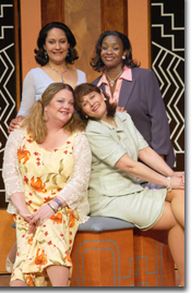 Photo of Clockwise from upper left: Stephanie Pascaris (Earth Mother), Dee Etta Rowe (Iowa Housewife), Mercedes Perez (Soap Opera Star) and Joilet Harris (Power Woman)