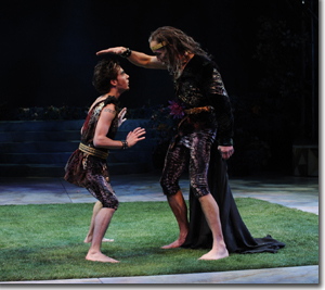 (Left to right) Michael Wartella as Puck and John Hutton as Oberon