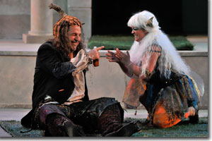 Lawrence Hecht as Puck and Nicole Bruce as First Fairy