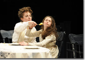 (Left to right) Kate Hurster as Annie Sullivan and Daria LeGrand as Helen Keller
