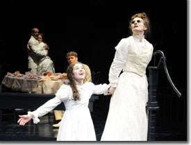 miracle worker family a jpg  left to right john hutton as captain arthur keller rachel fowler as kate