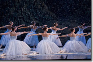Artists o fthe Colorado Ballet in Snow