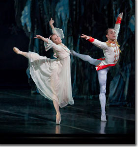 Dana Benton as Clara and Adam Still as the Nutcracker Prince