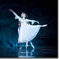 Jesse Marks as the Nutcracker Prince and Caitlin Valentine as Clara