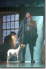 Photo of Shane R. Tanner (Bill Sikes) and Blanca (Bullseye)