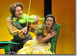 Edward Mout as Orpheus and Joanna Mongiardo as Eurydice