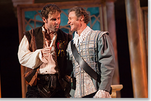 Geoffrey Kent as Iago and Peter Simon Hilton as Cassio