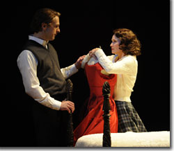 (Left to right) James Michael Reilly as Dan Needham and Kathleen McCall as Tabitha Wheelwright