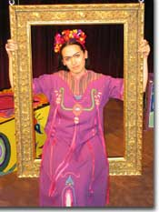Photo of Karen Slack as Frida Kahlo