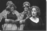 Photo of Kathleen M. Brady and Gloria Biegler as the Miss Pennies and Morgan Hallett as Isabel in Pierre