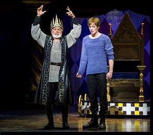 (Left to right) John Rubinstein as Charles and Matthew James Thomas as Pippin