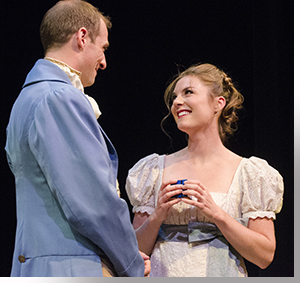 Casey Andree as Mr. Bingley and Anastasia Davidson as Jane