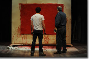 (Left to right) Benjamin Bonenfant as Ken and Lawrence Hecht as Mark Rothko