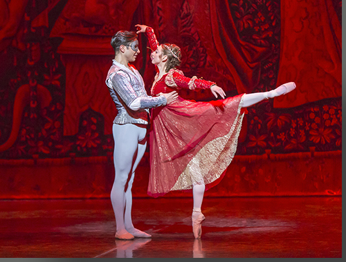 Yosvani Ramos as Romeo and Sharon Wehner as Juliet