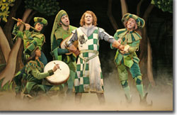 Robert Petkoff as Sir Robin with his Minstrels