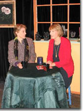 Photo of (L to R) Hilary Blair (Callie) and Patty Mintz Figel (Mrs. Winsley)