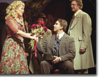 Photo of Diane Alexander as Kathie, Eric Fennell as Prince Karl Franz, and Daniel Narducci as Dr. Engel