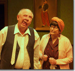 Ed Baierlein and Betsy Grisard as Mr. and Mrs. Todd in Madly in Love