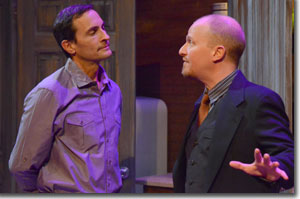 (Left to right) David Russell as Jean Pierre and Josh Hartwell as Alan