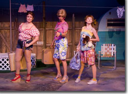 Sharon Kay White as Linoleum, Robin Thompson as Betty, and Amy Board as Pickles