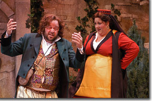 Logan Ernstthal as Sir Toby Belch and Leslie O'Carroll as Maria