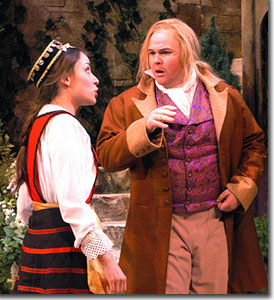 Jamie Ann Romero as Fabian and Ian Andersen as Sir Andrew Aguecheek