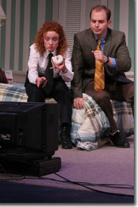 Caitlin Wise as Officer Billy Dwyer and Stuart Gates as Officer Eric Sheridan