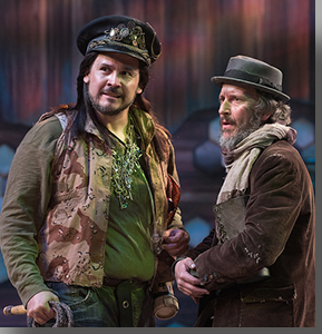 (Left to right) Sam Gilstrap as Pozzo and Timothy McCracken as Estragon
