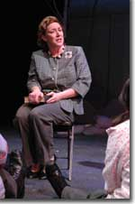 Photo of Dee Covington as Laura Bush in Tony Kushner's Only We Who Guard the Myserty Shall Be Unhappy