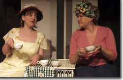 Erin Rollman as Mrs. Walspur and Hannah Duggan as Mrs. Green