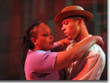 Photo of Candace Taylor as Alma and Tyee J. Tilghman as Eugene